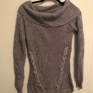 Tunic gray knit sweater. Winter Fall Derek Heart